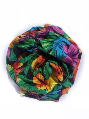 Tropical Black Turban - FLO-01