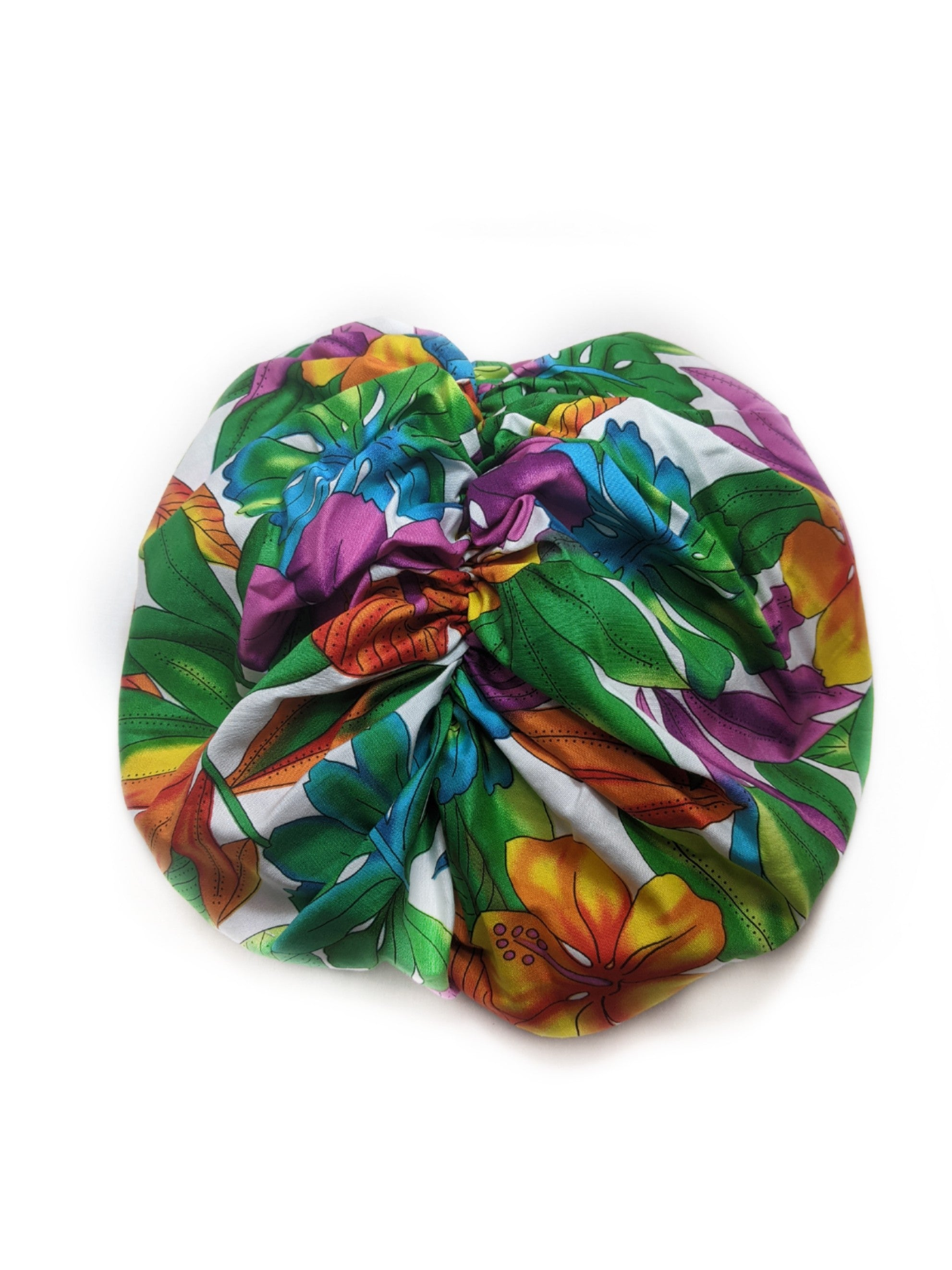 Tropical White Turban - FLO-03