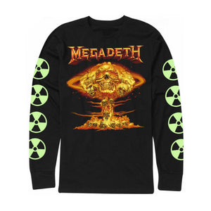Megadeth Cloud Flame Long Sleeve Tee