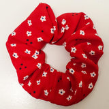 Red Floral Scrunchie