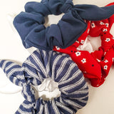 Red White and Blue Scrunchie 4 Set