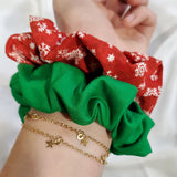 Red Snowflake Scrunchie