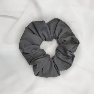 Dark Grey PolyCotton Scrunchie