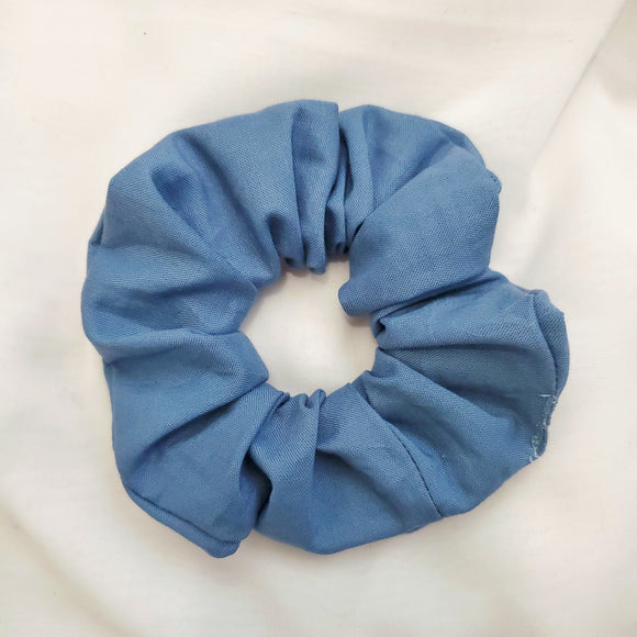 Muted Sky Blue Scrunchie