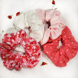 Pink Dotted Scrunchie