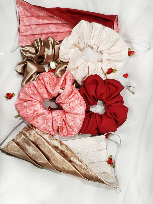 Be Mine Full Scrunchie Mask Set