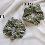 Green Floral Scrunchie