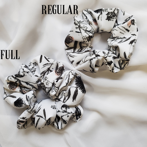 Thistle Print Scrunchie