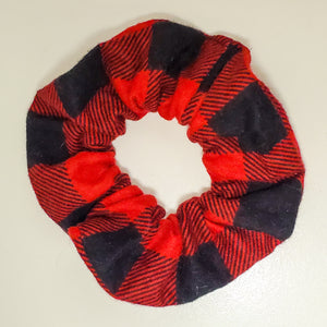 Red Plaid Scrunchie
