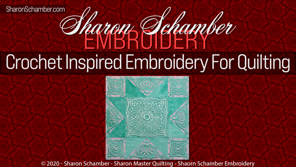 Crochet Inspired Embroidery For Quilts With Piec-Lique