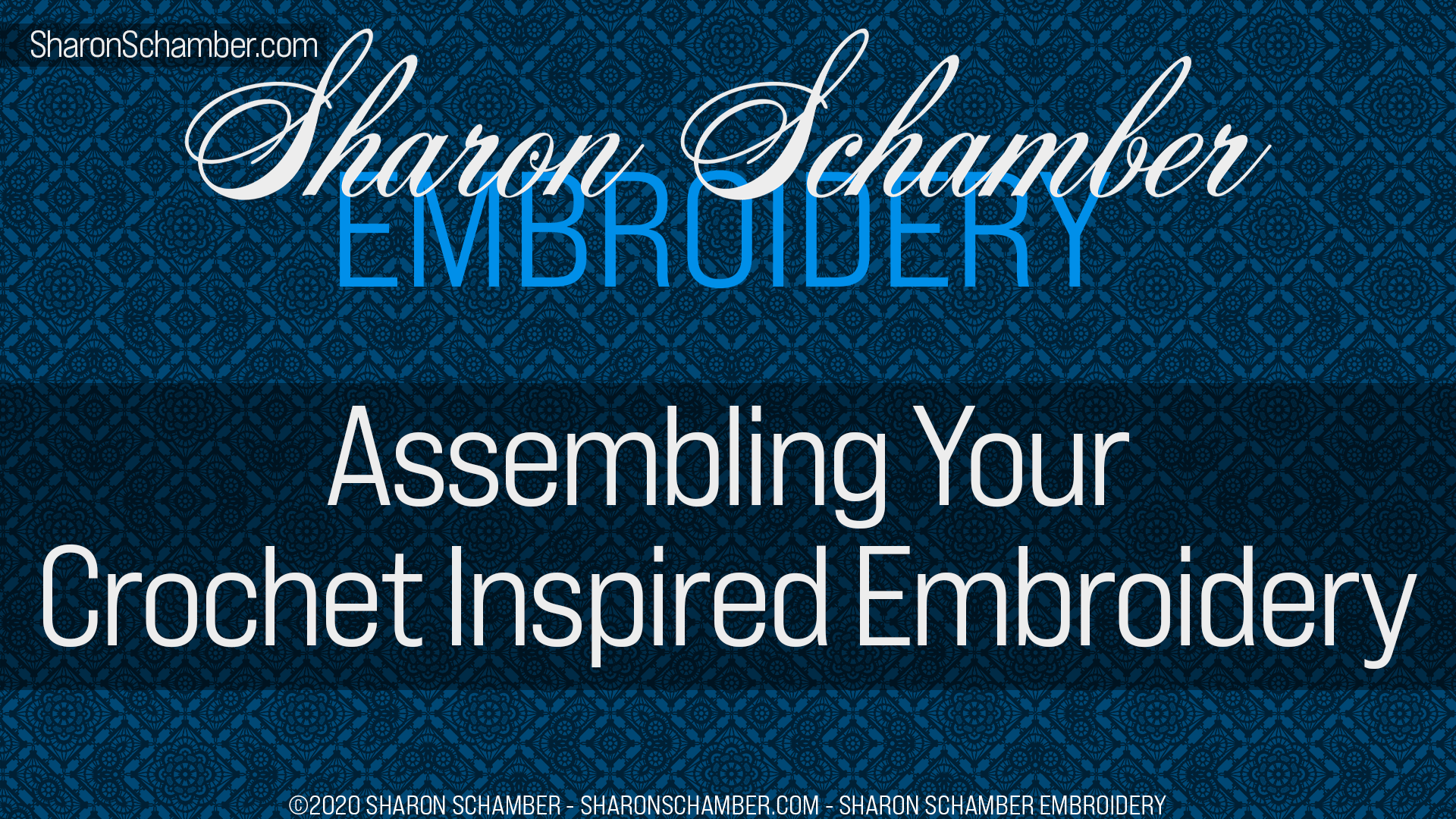 Washing Your Crochet Inspired Embroidery