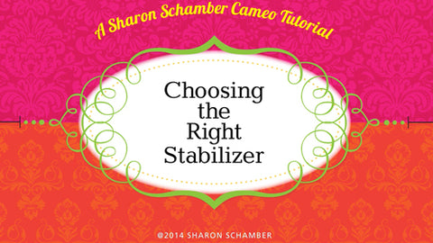 Sharon Schamber - Choosing the Right Stabilizer