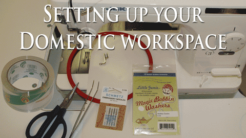 Sharon Schamber - Setting Up Your Domestic Workspace