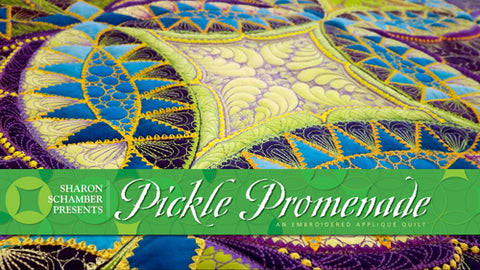 Sharon Schamber - Pickle Promendade - With Quilting