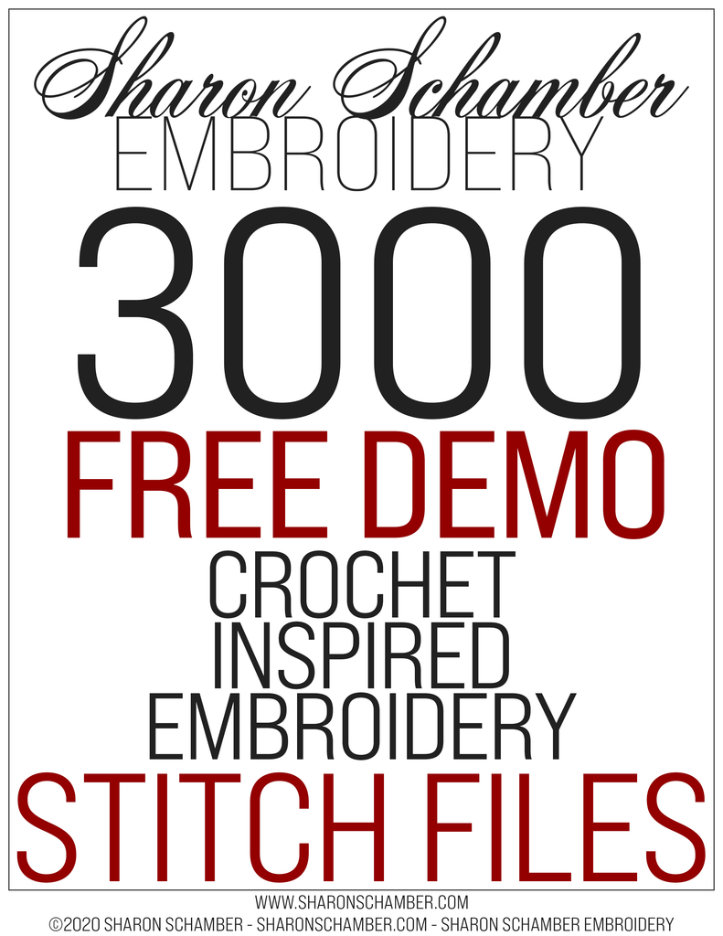 3000 Demo - FREE!! - Square - Crochet Inspired Embroidery