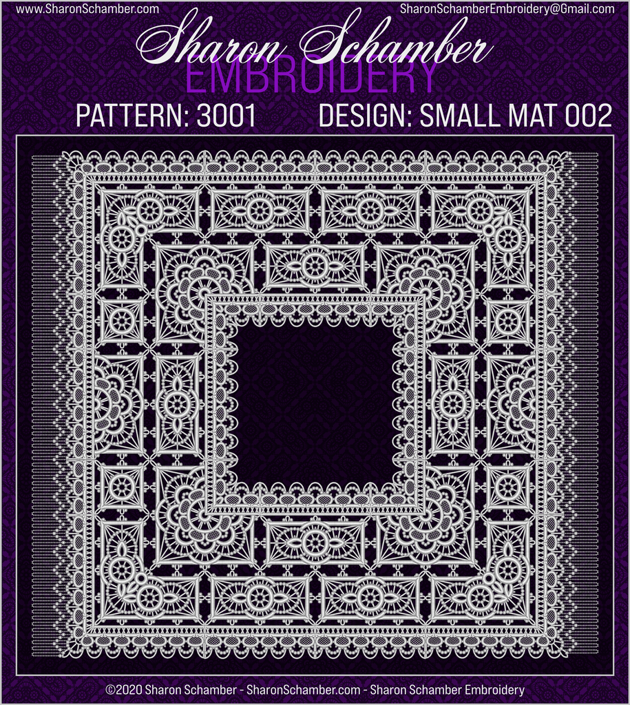3001 - Square - Crochet Inspired Embroidery