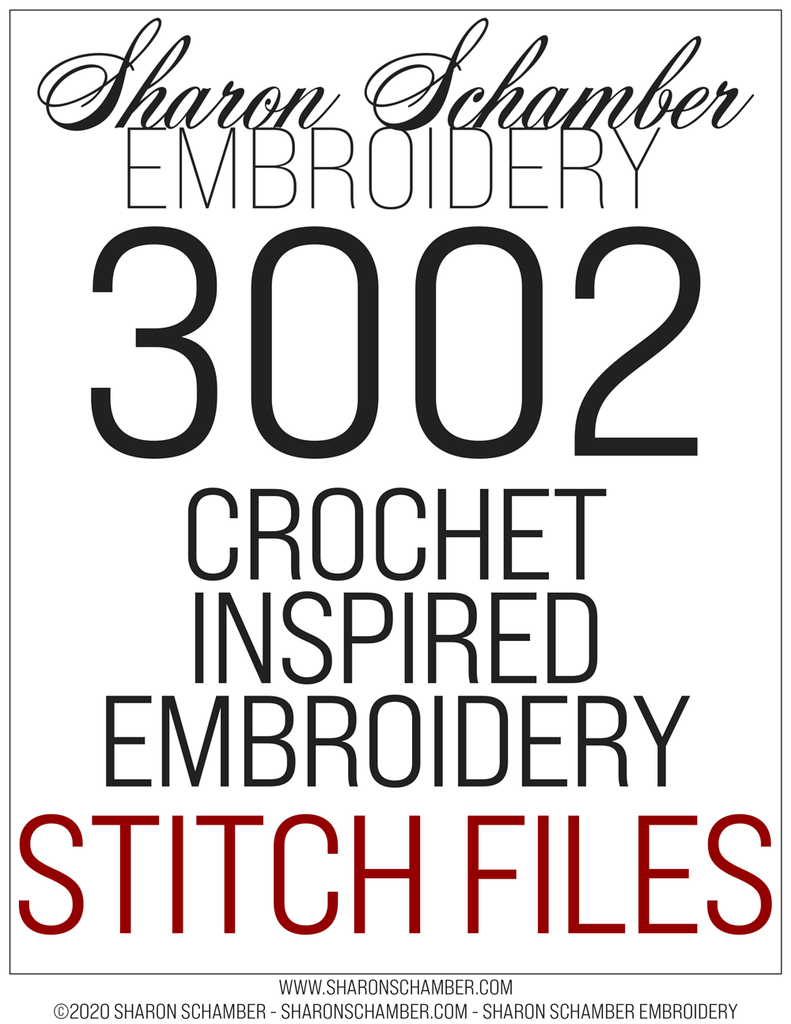 3002 - Square - Crochet Inspired Embroidery