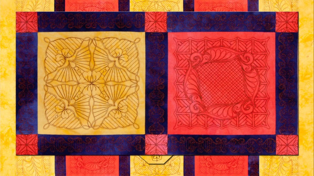 Embroidered quilting trapunto sharon master quilter