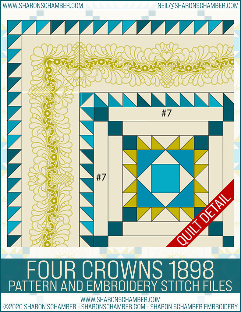 Four Crowns 1898 Pattern and Embroidery Files