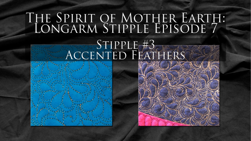 $8 Video Class - Longarm - Stipples from The Spirit of Mother Earth Episode 07