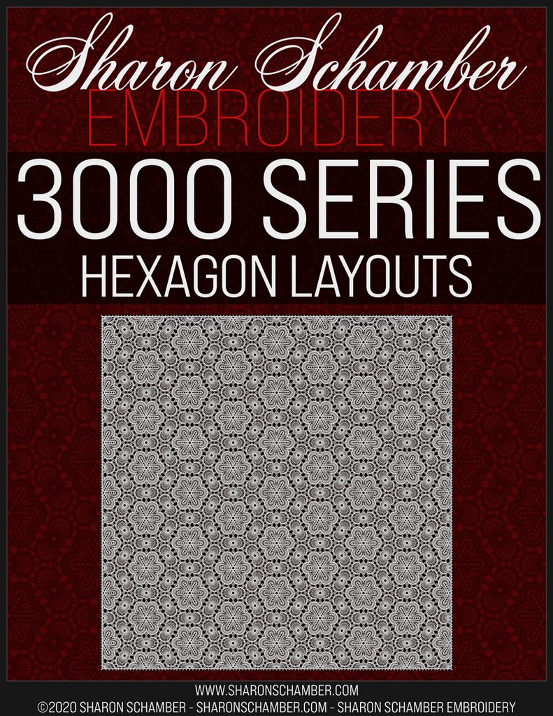 3006 - Hexagon - Crochet Inspired Embroidery