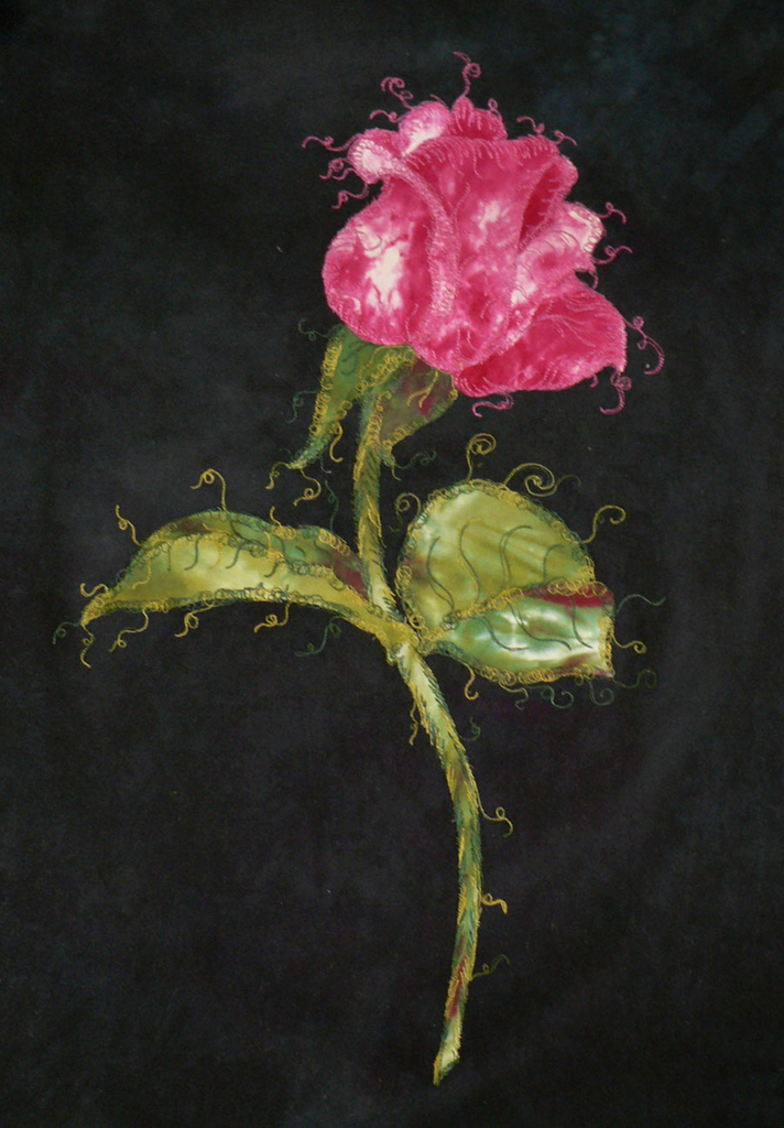 Raw-Edge Appliqué Rose