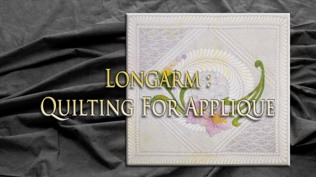 $8 Video Class - Longarm - Quilting For Applique