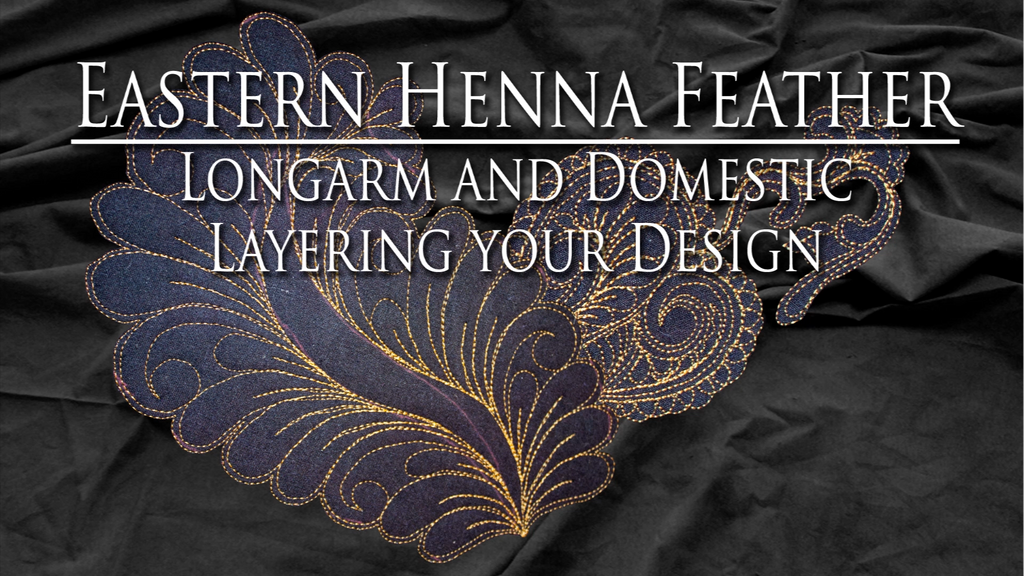 $8 Video Class - Longarm - Eastern Henna Feathers