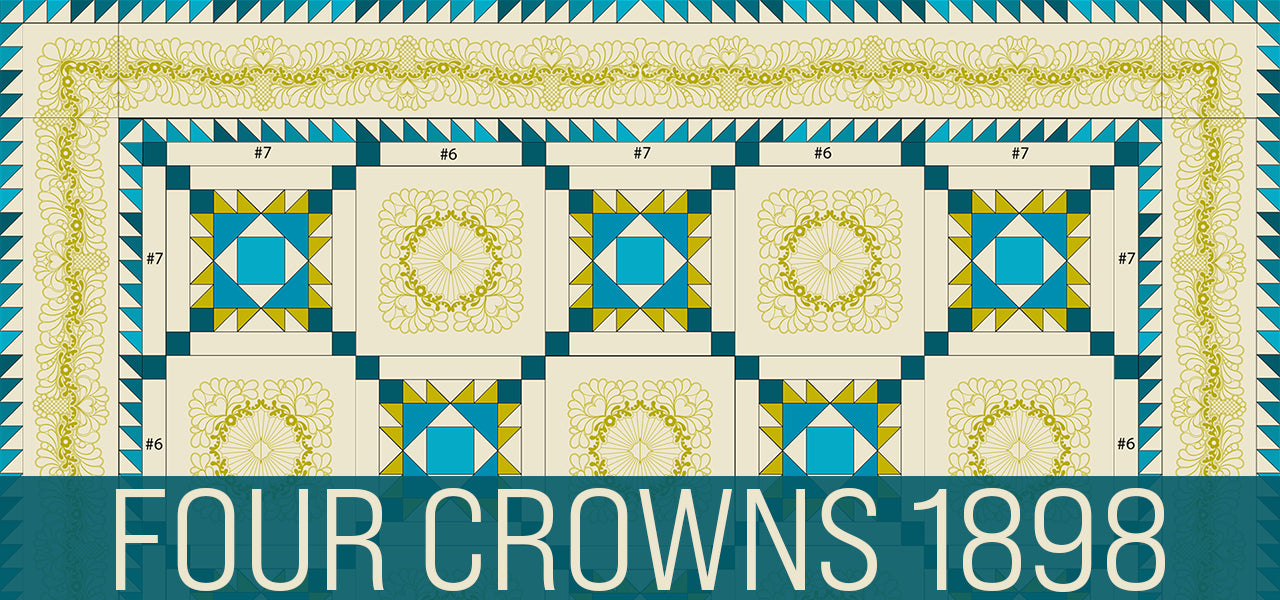 Four Crowns 1898 - Pattern and Embroidery files