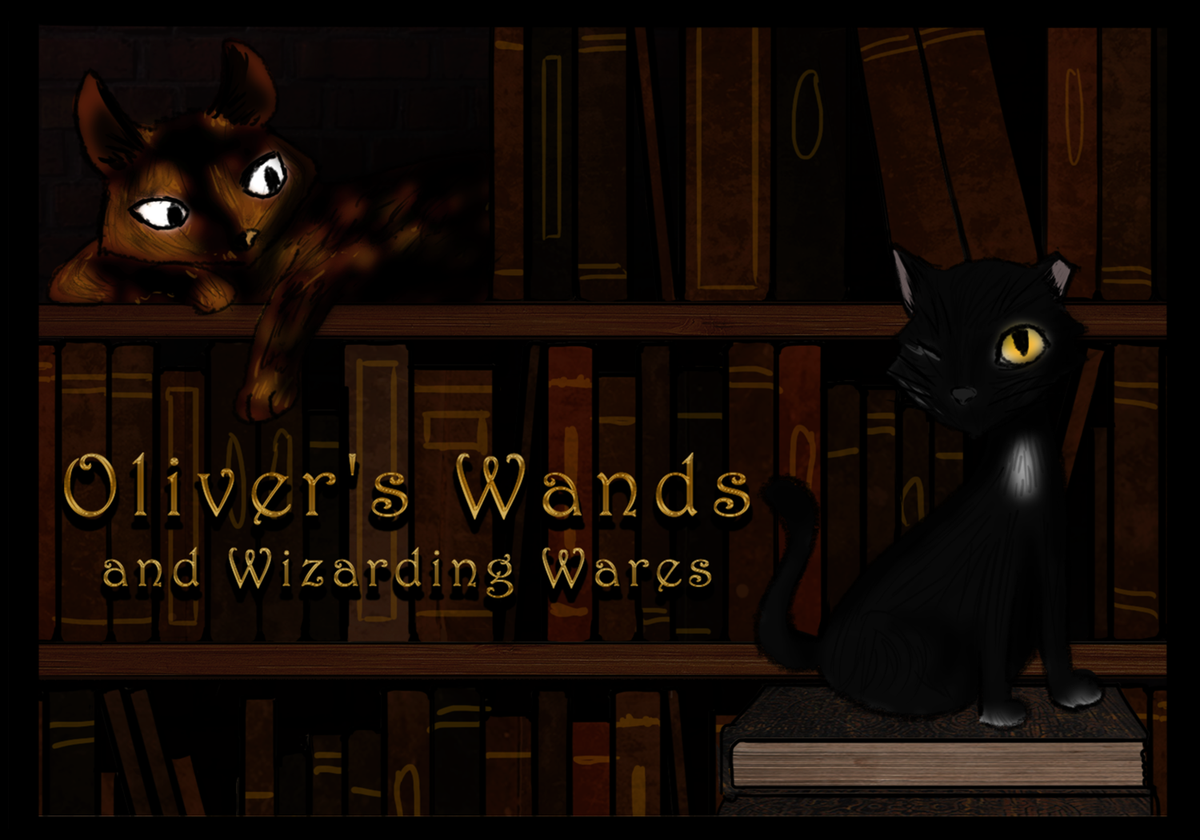 Oliver's Wands and Wizard Wares merchandise and events!