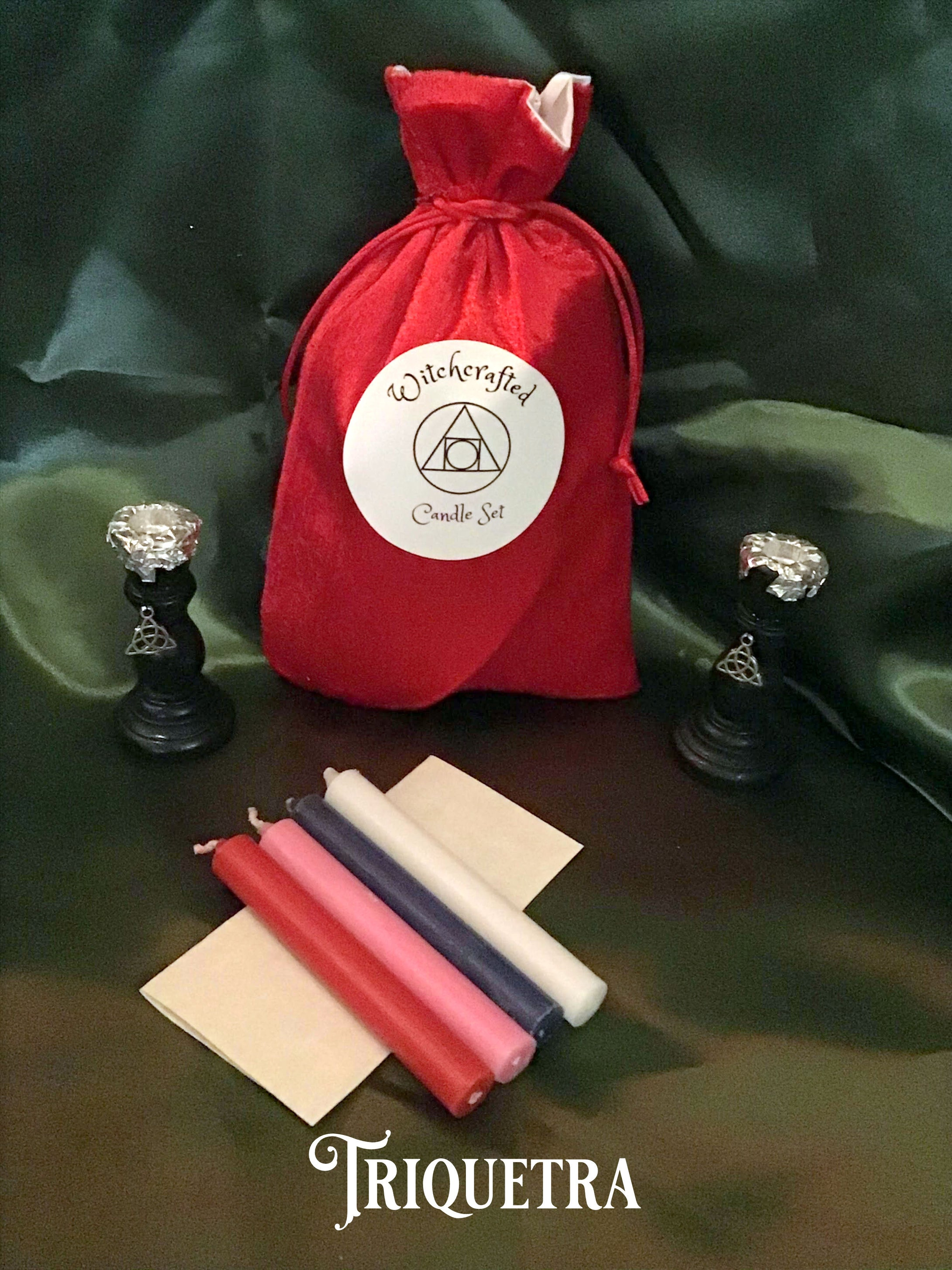 CHIME SPELL RITUAL CANDLESTICK SET