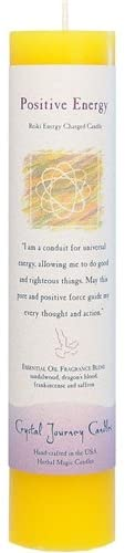 POSITIVE ENERGY HERBAL MAGIC PILLAR CANDLE