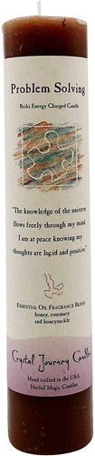 PROBLEM SOLVING HERBAL MAGIC PILLAR CANDLE