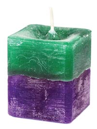 STRESS RELIEF SQUARE VOTIVE HERBAL CANDLE