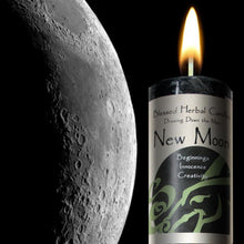Load image into Gallery viewer, NEW MOON DRAWING DOWN THE MOON CANDLE