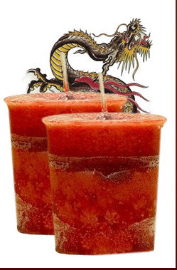 DRAGON'S BLOOD VOTIVE HERBAL CANDLE