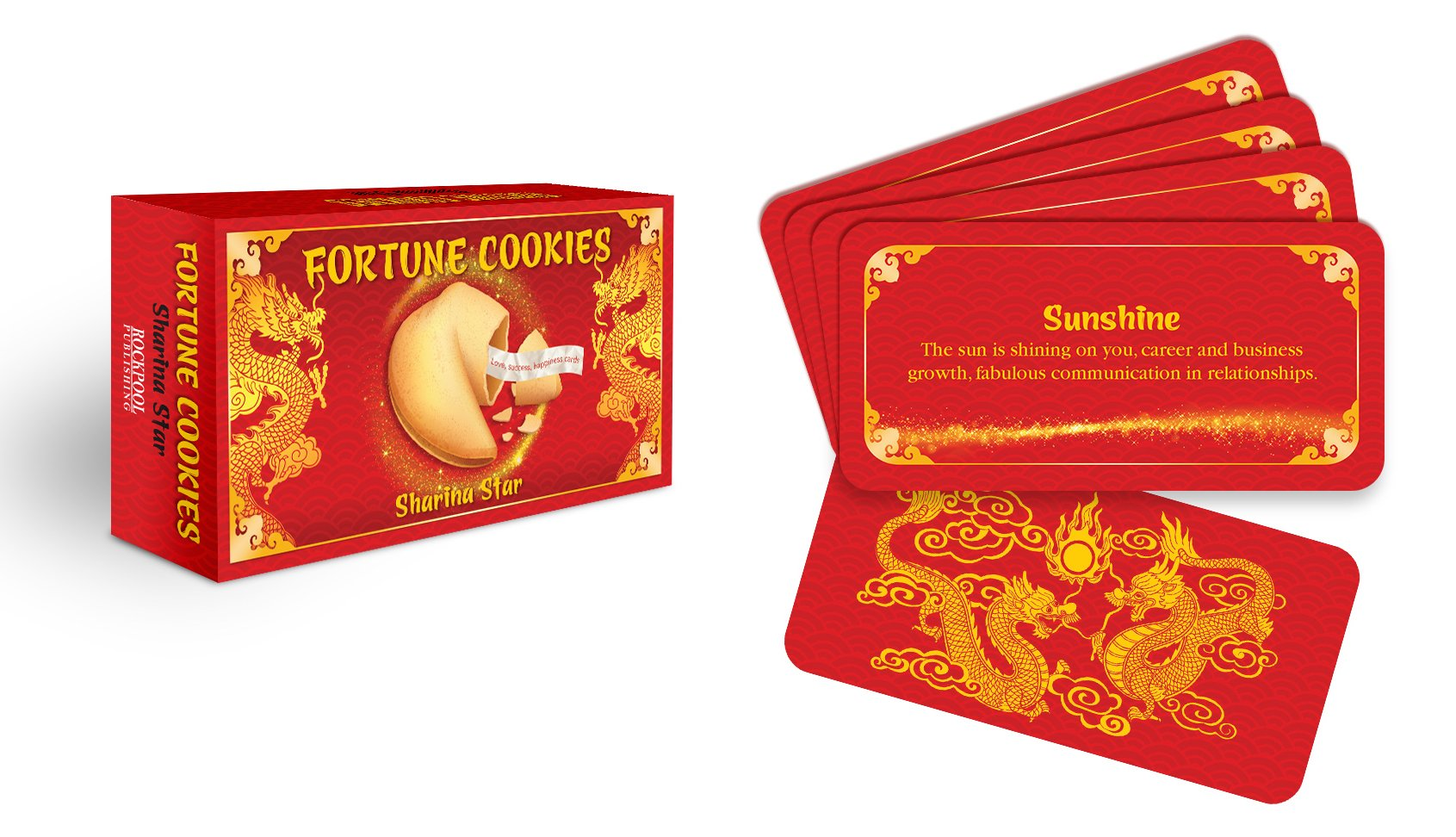 FORTUNE COOKIES: LOVE, HAPPINESS, SUCCESS CARDS