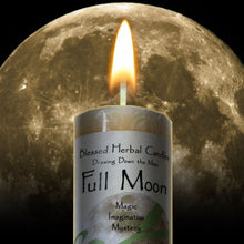 Load image into Gallery viewer, FULL MOON DRAWING DOWN THE MOON CANDLE