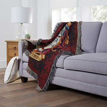 "Load image into Gallery viewer, Harry Potter, ""Gryffindor Crest"" Woven Tapestry Throw Blanket"