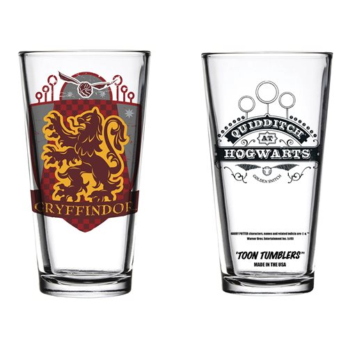 Gryffindor Quidditch Pint Glass