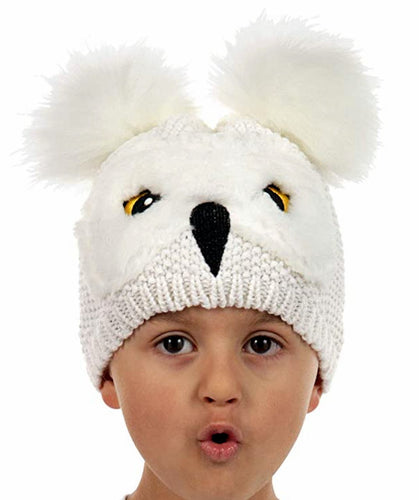 Harry Potter Hedwig Owl Pom Knit Beanie Hat for Toddler