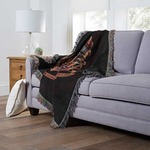 "Load image into Gallery viewer, Harry Potter, ""Hogwarts Decor"" Metallic Woven Tapestry Throw Blanket"