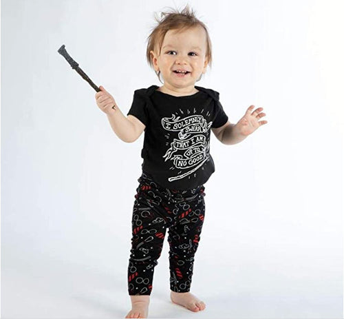 Harry Potter Solemnly Swear Baby Clothes Combo Onesie Infant Apparel-24 Months