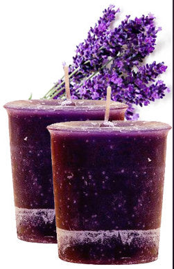 LAVENDER VOTIVE HERBAL CANDLE
