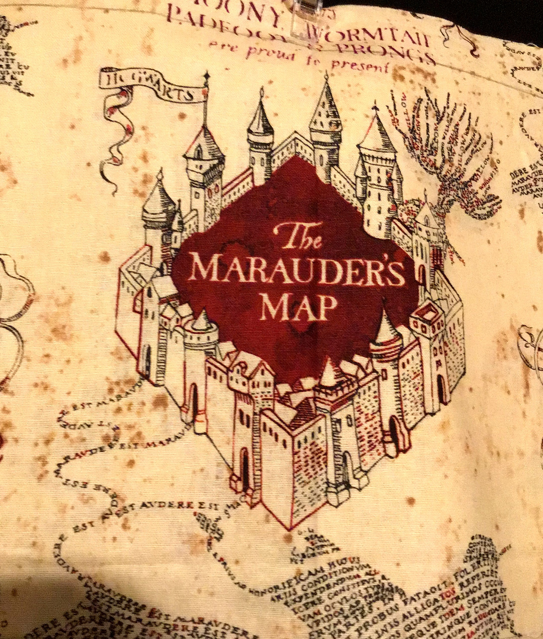 HARRY POTTER MARAUDERS MAP PRINT MASK