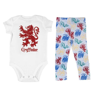 Harry Potter Gryffindor Baby Clothes Combo Onesie Infant Apparel-24 Months
