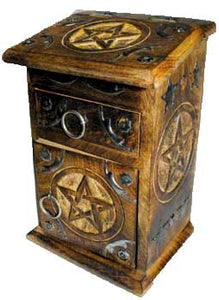 Pentagram Witch's Herb Cabinet