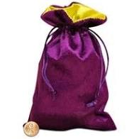 PURPLE VELVET TAROT DECK BAG
