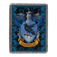 "Load image into Gallery viewer, Harry Potter, ""Ravenclaw Crest"" Woven Tapestry Throw Blanket"
