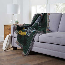 "Load image into Gallery viewer, Harry Potter, ""Slytherin Shield"" Woven Tapestry Throw Blanket"